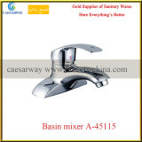 Deck Mounted Brass Bathroom Wash Water Basin Mixer