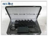 16W Portable Stationary Adjustable 6 Bands Jammer; 50meters Adjustable 6 Antenna 2g/3G Cellphone, 433, 315 Lojack Jammer/Blocker