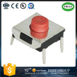 Tact Switch Element 6.2*6.2*2.5-4.3 Pin Environmental Protection High Temperature Red Head Key Switch