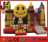 Mini House Inflatable Smile Face Boucer Castle Slide