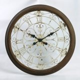 Hot Selling Old Style Round Metal Wall Clock Home Decoration