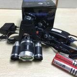 Boruit 3 CREE Xml T6 5000lm Hunting Camping Rechargeable Headlamp