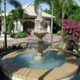 Stone Garden Decoration Outside Fountain with Pool