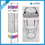 Exhibition Twister Tower Display with Clear PVC Panel