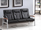 Hot Sales Classical Design Leather Office Sofa Waiting Sofa with High Back in Stock 1+1+3