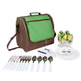 Shoulder Picnic Bag for 4 Person with Cooler Compartment