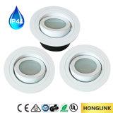 Replaceable LED Module/ GU10 Spotlight Bathroom Light, IP44 Downlight