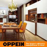 Oppein Melamine Storage Cabinet Modern White Wooden Sideboard (CG0471635)