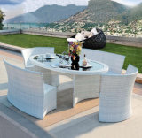 4 Seater 1 Table Collapsible Outdoor Furniture PE Imitation Rattan Products Z555
