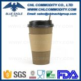 Anti Spill Fashion Design Kraft Paper Cup with Band