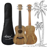 China Aiersi New 24 Inch High Quality Spalted Maple Concert Ukulele