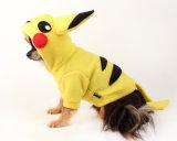 Pikachu Dog Pokemon Dog Hoodie in Yellow