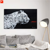 New Modern Cool Nordic Black and White Leopard Oil Painting