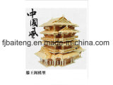 Wooden Tower with Chinese Traditional Culture