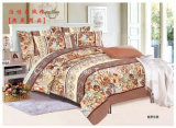 Colorful Flower Pattern Bamboo Microfiber Plain Dyed Bed Sheet Set Bedding Set for Home