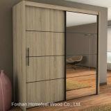 Durable Bedroom Furniture 2 Door Mirrored Sliding Wardrobe (WB32)