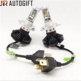 Super Bright Auto LED Headlight X3 H4 Car Headlamp with 6000lm