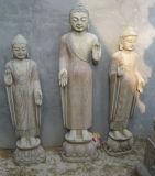 Old Finish Antique Stone Buddha Marble (HS1037)