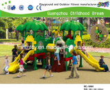 Discount Small Tree Roof and Animal Cartoon Slide Outdoor Plastic Playground (HA-10401)