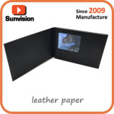 2.4inch TFT Video Business Card with Leather Paper Card