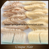 Best Quality Russian Remy Body Wave Tape in Extensions Factory