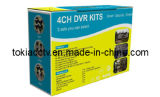 4CH DVR Kits 4 Camera with Bracket+4CH DVR+80m Video/Power Camera+DC12V/5A Power