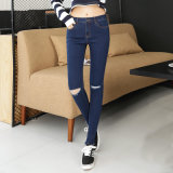 2017 New Style Wholesale Lady′s Jeans New Model Jeans
