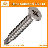 Ss304/316 Phillips Csk Head Self Drilling Screw