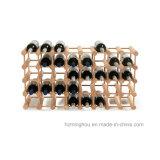 Modular Rack 40-Bottle Floor Solid Wood Storage Wine Shelving Rack