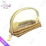 Straw Mat Make up Women Casual Transparent Pouch Bag