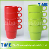 Ceramic Colorful Stackable Coffee Mug
