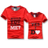 Hot Sale Couple Fashion Short Sleeve Printed T Shirt