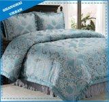 7 Piece Lake Green Jacquard Polyester Comforter Set