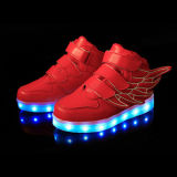 Accept OEM Customize Kids LED Shoes, High Top LED Shoes Sneakers for Kids