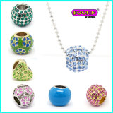 Wholesale Custom Fashion Alloy Colorful Crystal Bead Pendant Necklace Jewelley