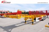 Semi Trailer with Twist Locks for Transporting Containers