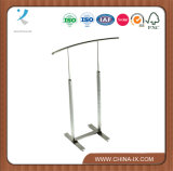 Retail Clothing Rack with Curved Rail