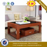 Glass Wooden Coffee Table Modern Living Room Furniture (UL-MFC026)