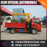 4*2 Truck Crane with Folding or Straight Arms, 5-7ton Truck Mounted Crane for Construction