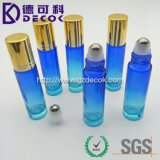 10ml Blue Color Glass Roller Bottles Roll Bottle with Metal Ball for Essential Oil