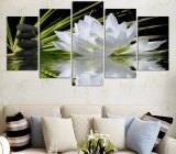 HD Printed Lotus and Stones Painting Canvas Print Room Decor Print Poster Picture Canvas