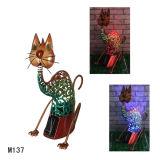 Iron Craft Cat with Soiar Light