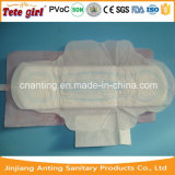 280mm Size OEM Brand Sanitary Napkin Pad Middle with Blue Flower