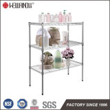 Powder Coated 3 Tier Adjustable Steel Bathroom Wire Rack Shelving