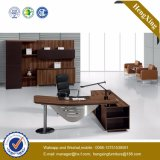 Lecong L Shape Executive Table Melamine Executive Desk (HX-TN154)