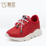 Kids Fashion Lace up Light Breathable Sneakers Shoes Red