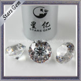 Good Quality White 9hearts1flower Star Cut CZ Stone