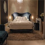 Modern Home Bedroom Furniture French Wood Carved Bed