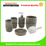 China Elegant Product Ceramic Home Use Bath Set with Toilet Brush