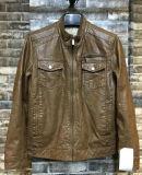 Men Fashion Eco-Friend Windproof Classic PU Leather Jacket (T2-31)